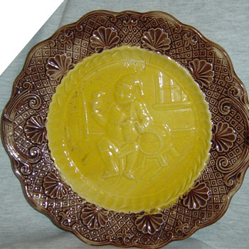 majolica plate