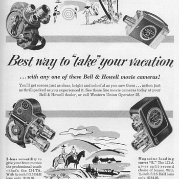 1953 - Bell & Howell Movie Cameras Advertisement - Advertising