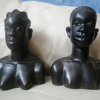 African head carvings - Figurines