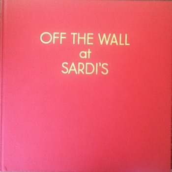 """Off The Wall at Sardi's"" by Vincent Sardi, Jr. & Thomas Edward West - Books"