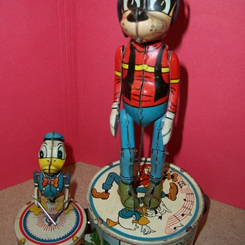 Marx 1940's Donald Duck Duet Tin Toy - Toys