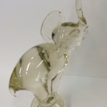Vintage lovely glass Elephant.