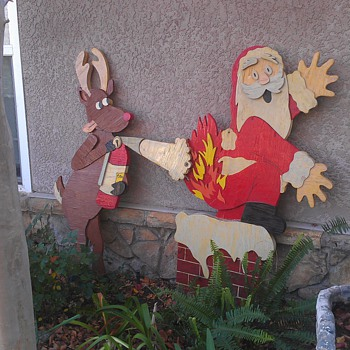 vintage christmas cutout decoration