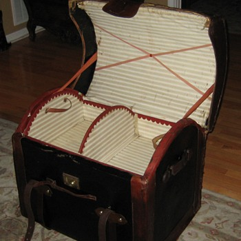 Interior Of English Made Round Top Wicker Trunk