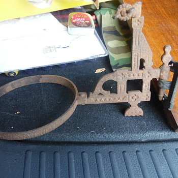 Antique Cast Iron Lanter,Gas Light, Holder?