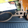 Antique Cast Iron Lanter,Gas Light, Holder?