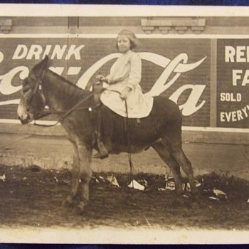Coca Cola painted sign circa 1910