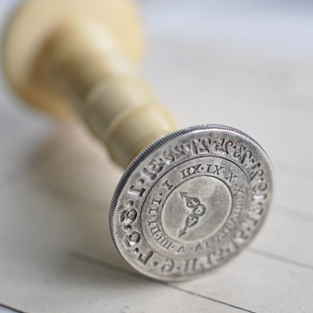 antique perpetual calendar wax seal