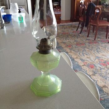 3 vintage oil lamps  - Lamps