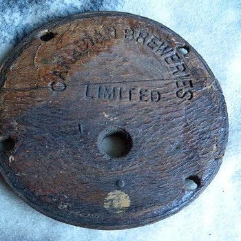 1930's Canadian Breweries Limited Barrel Lid - Breweriana