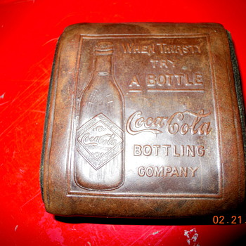 c. 1907 Coca-Cola Change Purse, Brown - Coca-Cola