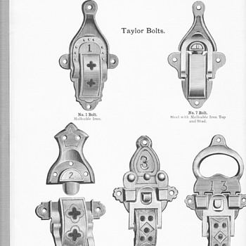 Additional Trunk hardware from the 1915 JH Sessions Catalog
