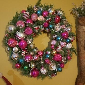 vintage wreath - Christmas