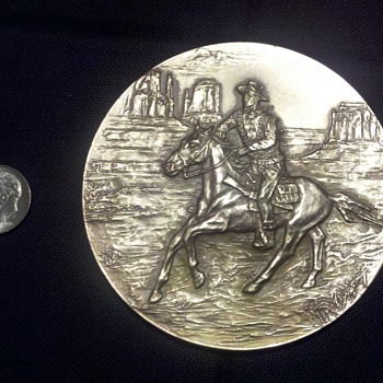 John Wayne Brass Coin by F. Gasparro