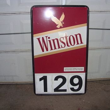 winston cigarette sign - Tobacciana