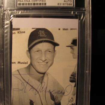 Signed Stan Musial - Cards