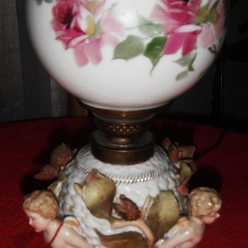 dresden coburg porcelain lamp