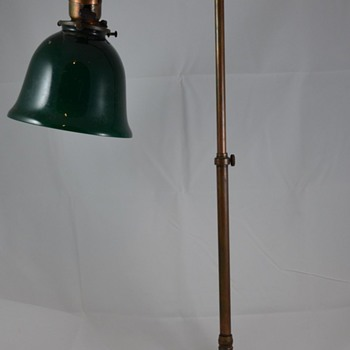 Mystery Desk Lamp Antique with Green Shade and Adjustable Height & Length Help - Lamps