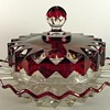 O'Hara's Diamond Ruby Stained Butter Dish ca 1880