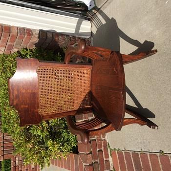 Oak caned handmade chair