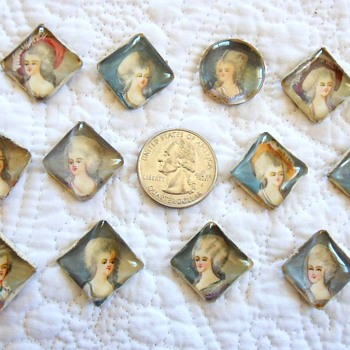 Hobe Hand Painted Portrait Cabochon Lot