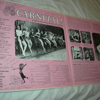 Autographed Recording of Carnival! Probably by entire cast from 1961 US Tour.