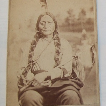 Cabinet Card of Sitting Bull