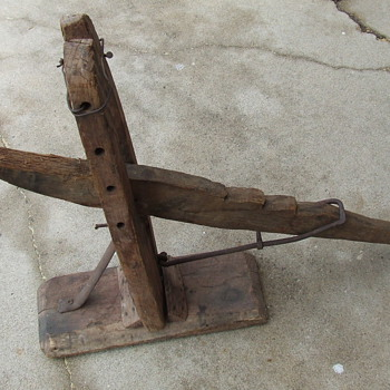 Very Old Primitive Buggy or Small Wagon Jack - Tools and Hardware