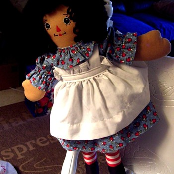 BLACK RAGGEDY ANN DOLL!  ADORABLE--WELL DONE, GREAT QUALITY-OBSCURE?? - Dolls
