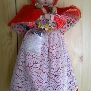 Vintage (?) Topsy Turvy Doll > Little Red Riding Hood, Grandma & the Big Bad Wolf~!! - Dolls