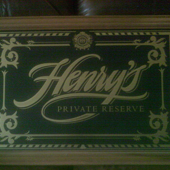 Henry Weinhard beer sign