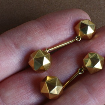 18 carat gold 1930's earrings - Fine Jewelry