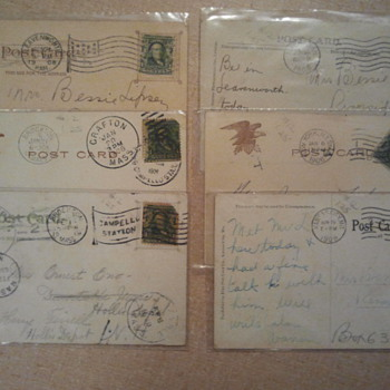Lot 7- Early 20th century stamps and post cards - Stamps