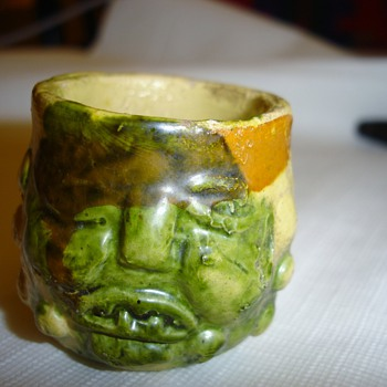 Ugly Face Miniature Grotesque Mug - Art Pottery