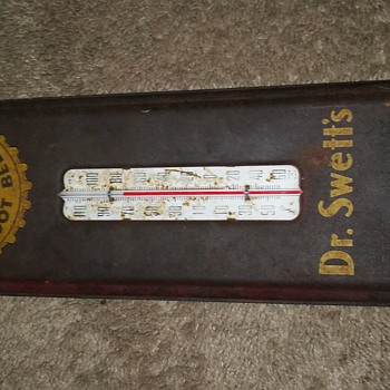 Dr.Swett's root beer thermometer sign