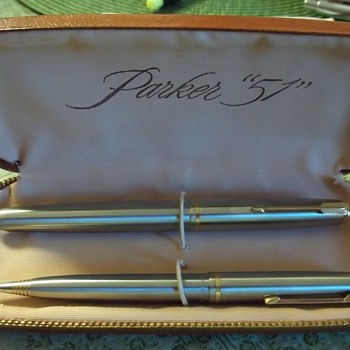 1953 Parker 51 Flighter pen and pencil set never used  - Pens