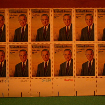 1972 Lyndon B Johnson 8¢ Stamps