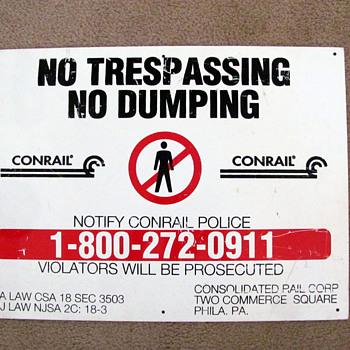 CONRAIL Railroad Sign