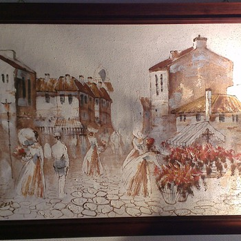 Boris Chezar - Oil and Sand painting - Norway