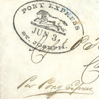 Pony Express Cover - just turned 150 years old