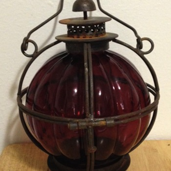 Old candle lamp