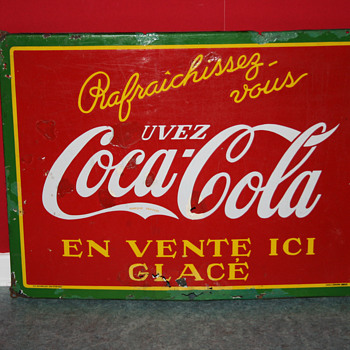 Coca cola porcelain sign - Signs