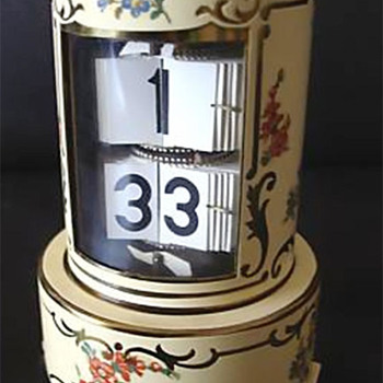 Flip Leaf Ticket Clock, Germany, 1952.