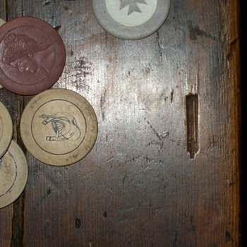 assortment of, gambling chips cocktail stirs, bottle opener and tooth pick despencer - Games