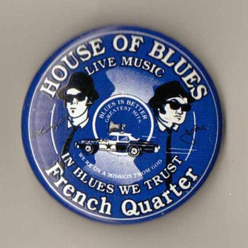 """House of Blues"" Pinback - French Quarter (New Orleans) - Medals Pins and Badges"