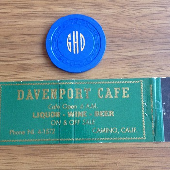 Rare California 2.50 Monogramed Casino Chip - Games