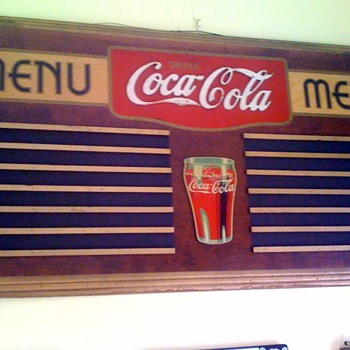 Pre 1940s Wooden Coca Cola Menu Board