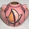Mystery Modern Pink Underglaze Bird Tulip Vase 1/2 Mark