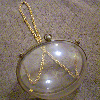 Pre-Judith Lieber Vintage Lucite Egg-Shaped (Bubble) Purse, Help??