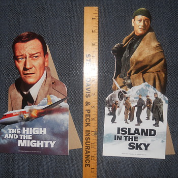 John Wayne movie ad prop-ups - Movies